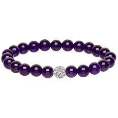 Purple Jade Crystal Ball Bracelet Box Set