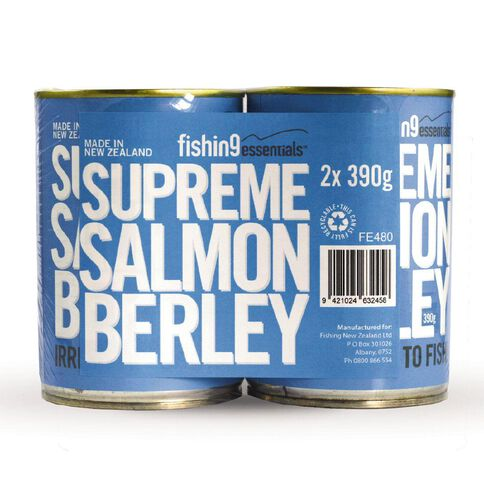 Hooked Salt Water Bait Salmon Berley Can 390g 2 Pack