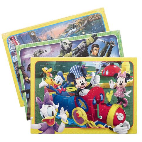 Disney 3 Pack Frametray Puzzle Series 1 Assorted