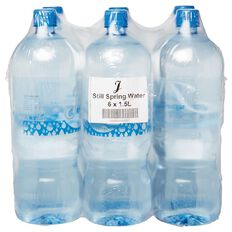 J Still Spring Water 1.5L 6 Pack