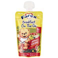 Farex Breakfast On The Go Apple & Oatmeal Pouch 120g