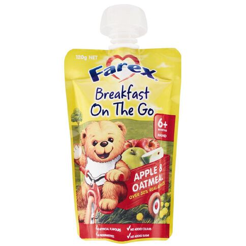 Farex Breakfast On The Go Apple & Oatmeal Pouch 120g