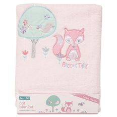 Rocco And Tolly Forest Friends Coral Fleece Cot Blanket