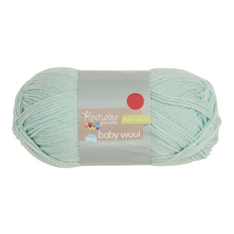 Knitwise Baby Yarn Wool 4Ply Mint 50g