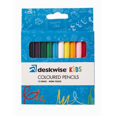 Deskwise Kids Colour Pencils Half Size 12 Pack