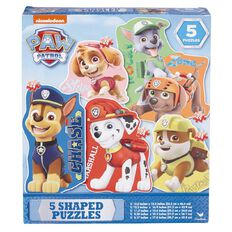 Paw Patrol 5 Shaped Puzzles