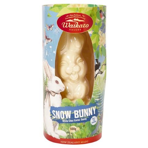 Waikato Valley Chocolates White Choc Easter Snow Bunny 500g