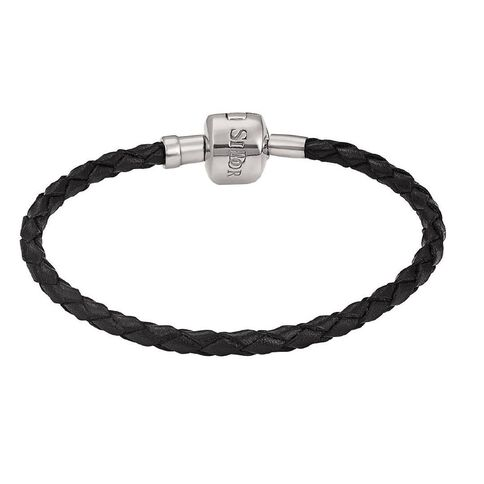 Ane Si Dora Sterling Silver and Leather Bracelet 16cm