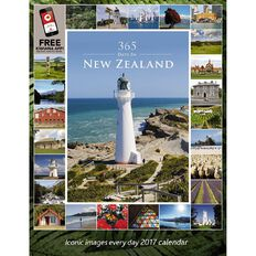 Calendar 2017 365 Days in New Zealand Portrait Wall