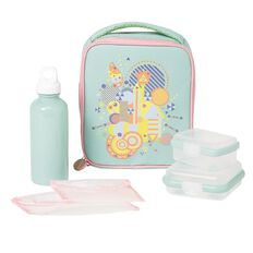 Necessities Brand Lunch Set Shapes Mint 7 Piece