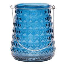 Living & Co Lantern Geo Glass 16.5cm x 20cm