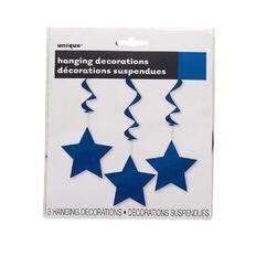 Unique Hanging Star Swirls Blue 3 Pack
