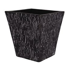 Pot Square Taper White Black Cement Zebra Design 37cm x 37cm x 36cm