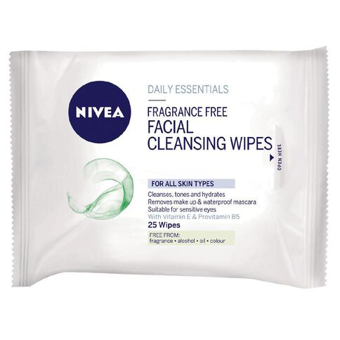 Nivea Visage Fragrance Free Wipes 25 Pack
