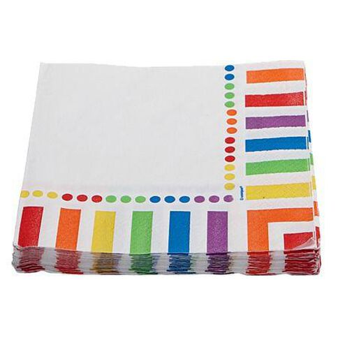 Unique Rainbow Birthday Party Napkins