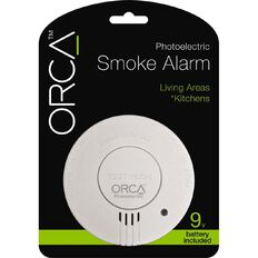 Orca Photoelectric Kitchen/Living Area Smoke Alarm with Hush