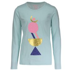 Basics Brand Girls' Long Sleeve Print Tee