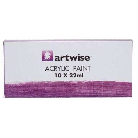 Artwise Acrylic Paint Set 22ml 10 Pack