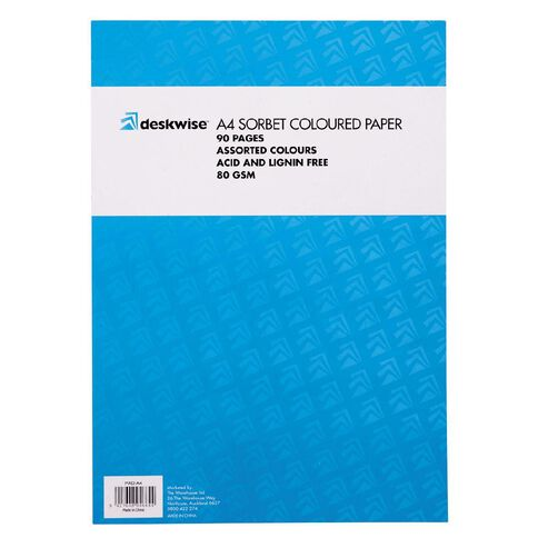 Deskwise Paper Pad Sorbet A4 90 Page