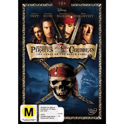 Pirates Of The Caribbean The Curse Of The Black Pearl DVD 1Disc