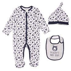 Hippo + Friends Baby Boy Set 3 Piece