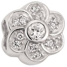 Ane Si Dora Sterling Silver CZ Flower Charm