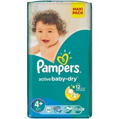 Pampers Nappies Size 4+ 53 Pack 9-16kg