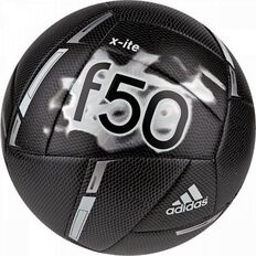 Adidas F50 X-ite Soccer Ball Black/ Silver Size 5