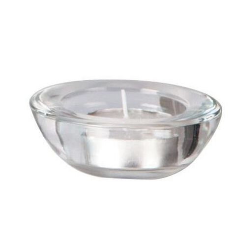 Necessities Brand Tealight Holder Round Clear Clear
