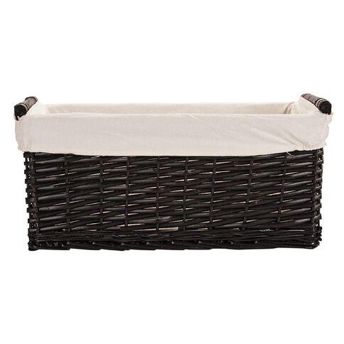 Living & Co Burma Wicker Rectangle Basket Medium Brown Dark