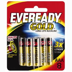 Eveready Gold Batteries AAA 8 Pack