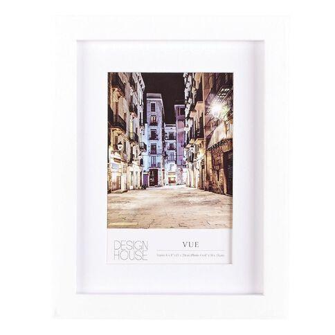 Design House Frame Vue White 10cm x 15cm (4in x 6in)