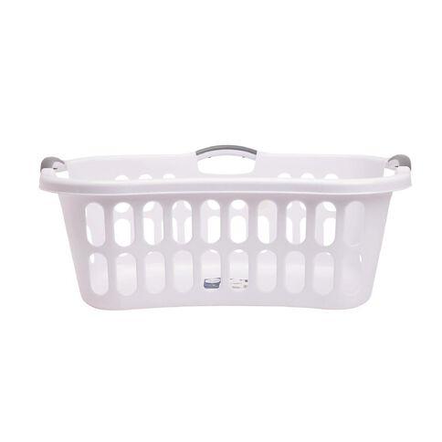 Taurus Hip Hugger Laundry Basket with Handles 44L White