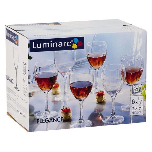 Luminarc Elegance Wine 250ml 6 Pack