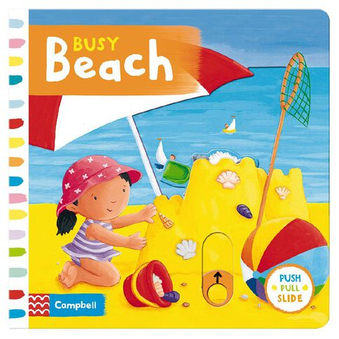 Busy Beach Board Book by Rebecca Finn