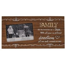 Design House Frame Family Words Oak 4in x 6in