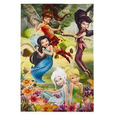 Disney Fairies Flowers Poster