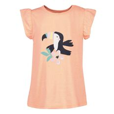 Young Original Girls' Short Sleeve Print Frill Tee