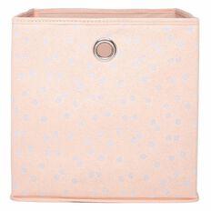 Living & Co Kids Storage Box Dot Pink 27cm