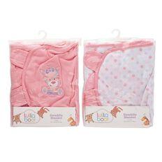 Lullaboo Swaddle Blanket Assorted Pink Large