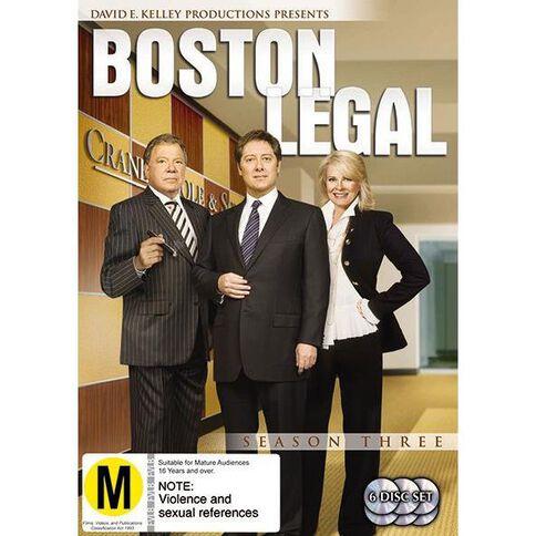 Boston Legal Season 3 DVD 6Disc