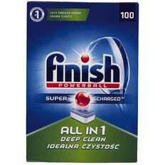 Finish Auto Dishwasher All-in-One Deep Clean Tabs 100 Pack