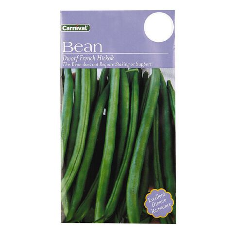 Carnival Seeds Bean Dwarf French Hickok