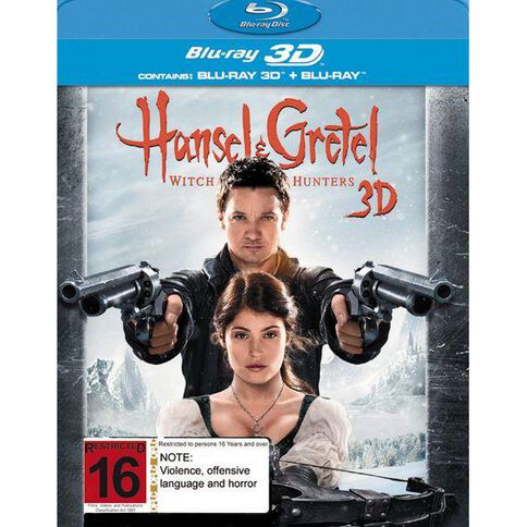 Hansel And Gretel Witch Hunters Blu-ray + 3D Blu-ray 2Disc