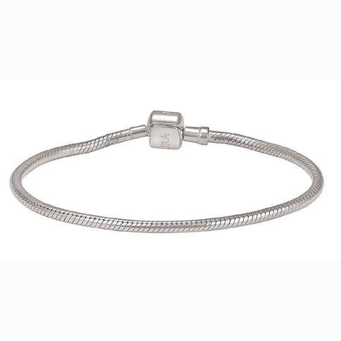 Ane Si Dora Sterling Silver Snake Clasp Bracelet 19cm