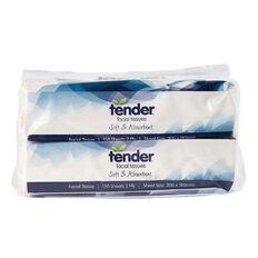 Tender Facial Tissues Softpack 150s 2 Pack