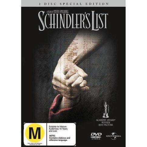 Schindlers List DVD 2Disc