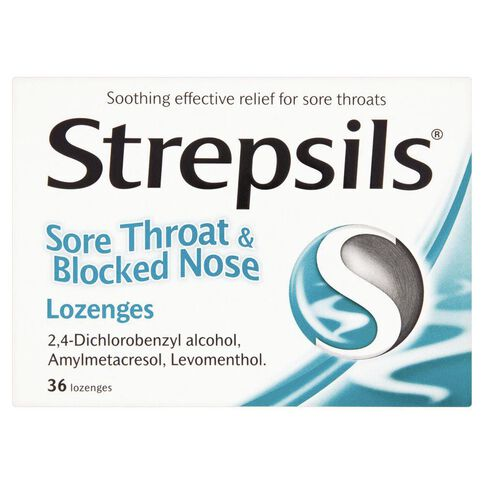 Strepsils Sore Throat and Blocked Nose Lozenges 16s