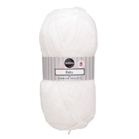 Rosie's Studio Baby Yarn 4-Ply Baby White 50g