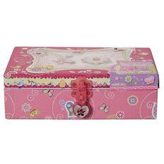 Princess Kits Trinket Box with Lock Flower